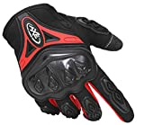 Jieshkouon Sports Gloves-Hard Shell Full Finger Touch Screen-Outdoor Riding Off-Road Bike Motorcycle Gloves-Antiskid,Abrasion Resistance and Fall Resistance(Red)