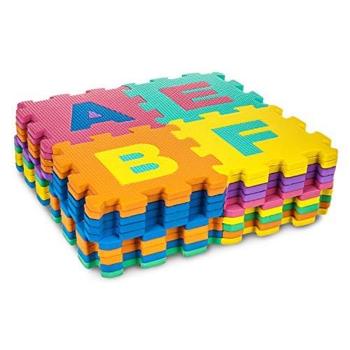 40lettres de l'alphabet grande taille en mousse de polycarbonate pour enfant douces jeu de puzzle numéros tapis d'apprentissage