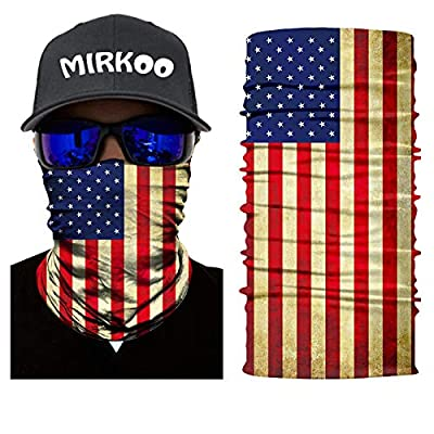 MIRKOO 3D Breathable Seamless Tube Face Mask, Dust-Proof Windproof UV Protection Motorcycle Bicycle ATV Face Mask for Cycling Hiking Camping Climbing Fishing Hunting Motorcycling (MK-268): Clothing