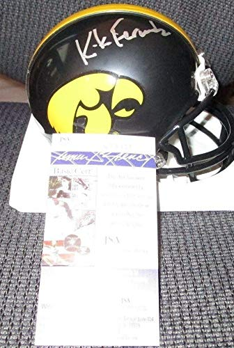 - Kirk Ferentz Iowa Hawkeyes Autographed Signed Memorabilia Mini Helmet - JSA Authentic