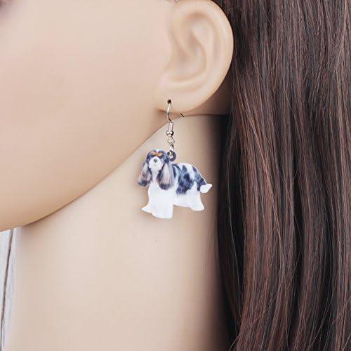 Newei Acrylic Sweet Cavalier King Charles Spaniel Dog Earrings