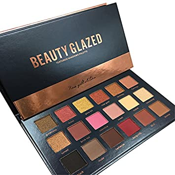 TOPBeauty New Beauty Glzaed 18 Colors Rose Gold Textured Eyeshadow ...