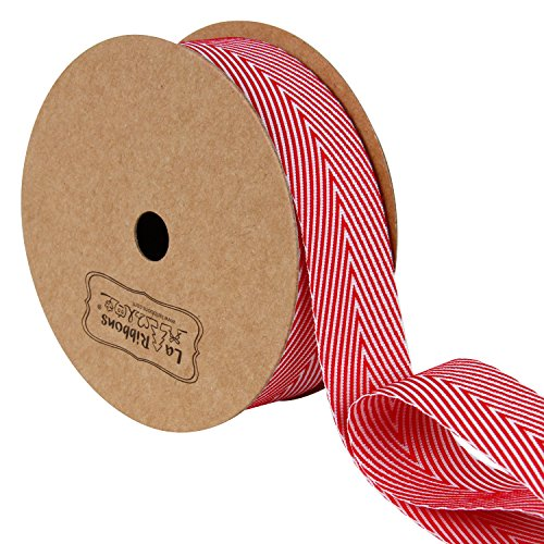 LaRibbons Twill Chevron Stripes Ribbon/Gift Wrap Ribbon, 1 I