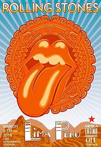Poster 13x19 - Rolling Stones - OLE Tour 2016 - Lima Peru 1 ()