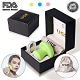 Facial Exercises Get Rid Wrinkles - Anti Age Mini Electric Rechargeable Handheld Facial and Body Massager By USK for Wrinkle Removal, Skin Tightening, Booster Effect of Skin Care Gel/Cream, Overall Relaxation, Pain/Stress Relief