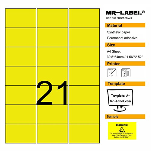 Yellow Blank Labels - 7
