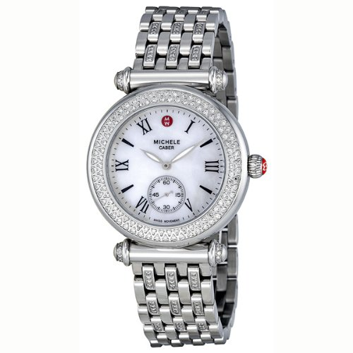 95050a288 Image Unavailable. Image not available for. Color: Michele Caber Diamond  Mother of Pearl Dial Stainless Steel Ladies Watch MWW16A000043