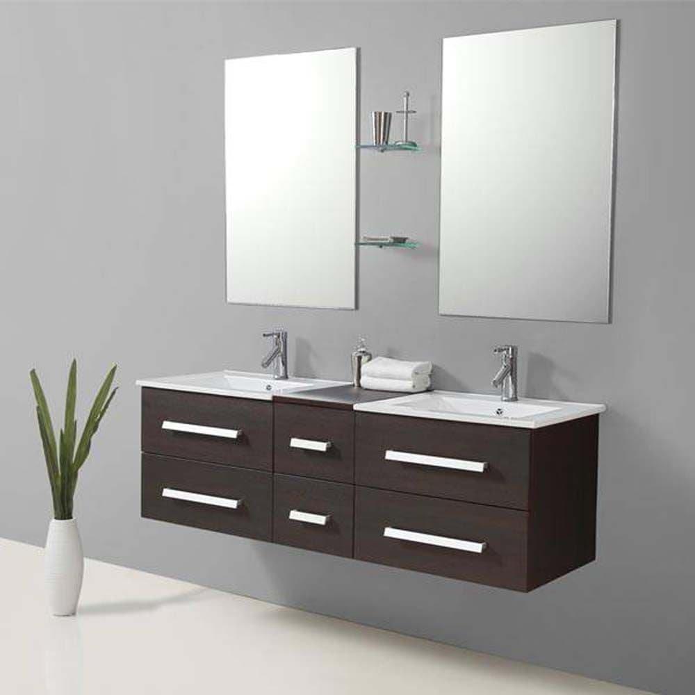 Genérico de mueble de baño contemporáneo 150x48;Wenge