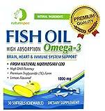 Cheap Nature Spec Fish Oil 1000mg High Absorption Premium TG Form Omega 3, 30 Softgels, Arctic, CodMarine, Norwegian MSC, Non GMO, Lemon Flavor, High DHA, EPA,Brain, Heart Immune System Support Supplement
