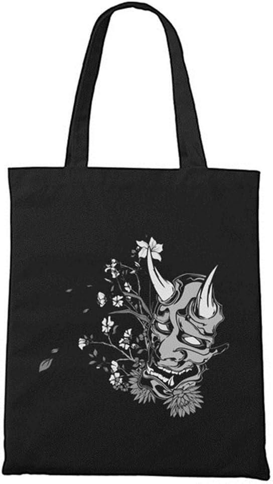KKSB Bolsa de Lona Algodón Negro Sello de Cremallera Pez japonés Animal Print Neutral Tote Bag Shopping Bag Black11: Amazon.es: Hogar