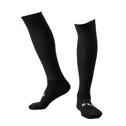 28ce2abe09a08 Plain Black Soccer Socks Men Women Adult Long Tube Team Football Socks  Cushioning Well