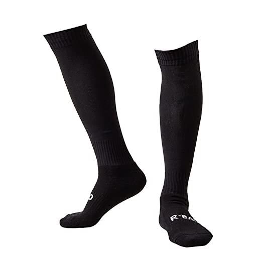 eb9f02f73 Plain Black Soccer Socks Men Women Adult Long Tube Team Football Socks  Cushioning Well