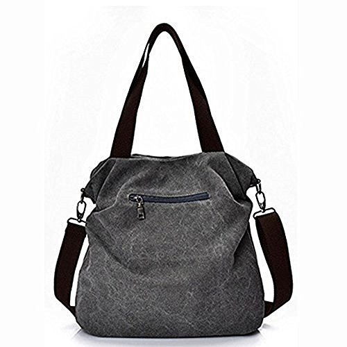 L W inch Bags 1 Bag of Handbags H 16 Casual Crossbody Material Canvas Canvas Paddy Tote Gray 1x4x11 Direct Women's Pack Women ZavqqT4