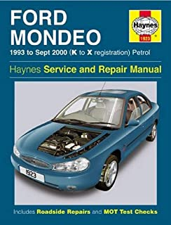 Ford Mondeo Service and Repair Manual : 1993 to Sept 2000 (K to X Reg
