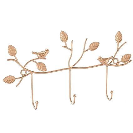 ikee diseño Metal realista pájaros montaje en pared ganchos ...