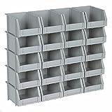 Small Mini Plastic Parts Bin Storage Rack For Organizer Bolts Beads - 20 Bins