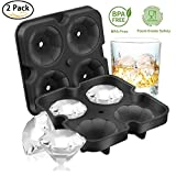 Fitfirst Ice Cube Trays with Lid, Diamond-Shaped Silicone Ice Cube Mold for Chilling