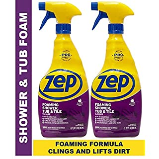 Zep Foaming Shower Tub and Tile Cleaner 32 ounce ZUPFTT32 (Pack of 2)