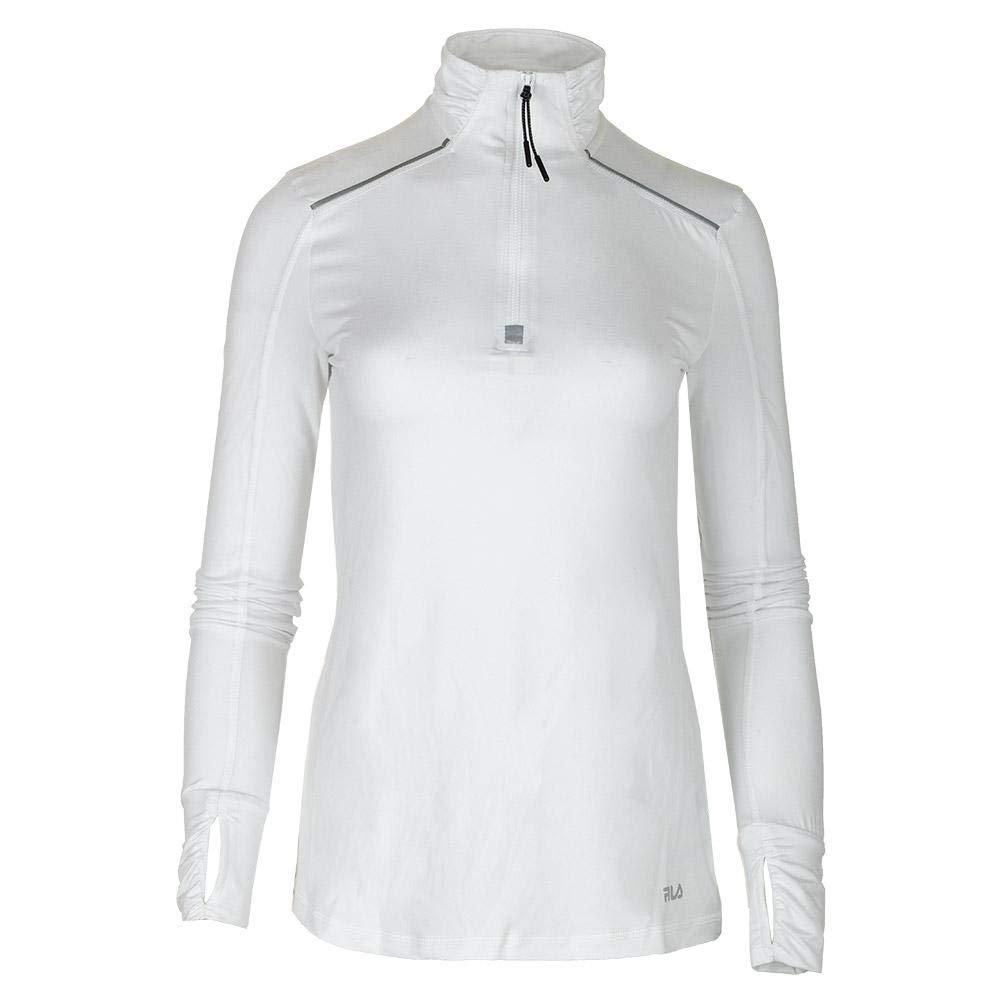 Fila-Women`s Half Zip Tennis Jacket-(789482730123) White