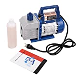 Goplus Single Stage 1/3HP 4CFM Rotary Vane Deep Vacuum Pump HVAC AC Air Tool R134 R410a