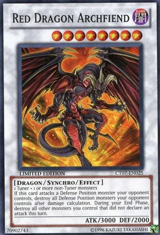 Yu-Gi-Oh! - Red Dragon Archfiend (CT07-EN025) - 2010 Collectors Tin - Limited Edition - Super Rare