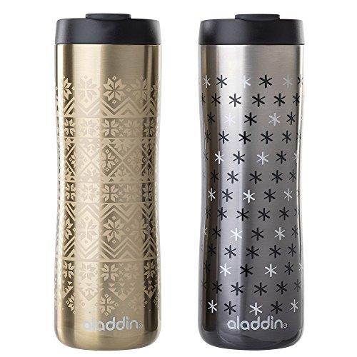 Aladdin Vacuum Insulated Stainless Steel Mug, 16oz, Gold Nor