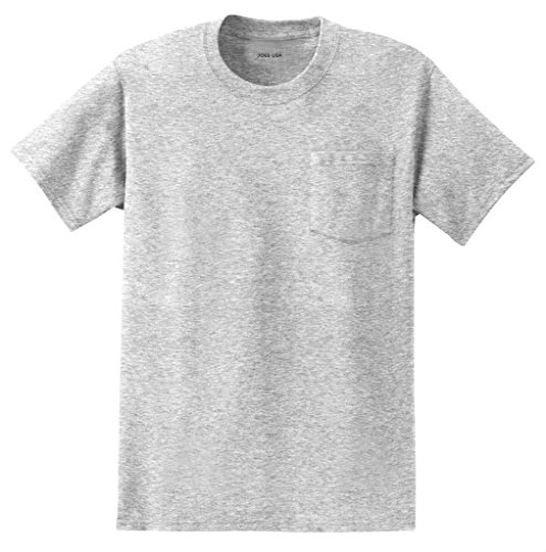 Joe's USA Mens Pocket Tee's - Heavyweight 6.1-ounce, 100% cotton Pocket (Heavyweight Pocket T-shirt)