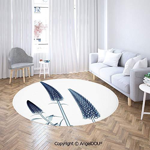 AngelDOU Round Carpets and RugsBedroom Living Room Gooseneck Loosestrife Flower X Rays Image Exotic Plants Blooms Artful Home Sofa Chair Decor Anti-Slip Floor Mats.