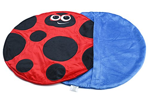 Placed on the leg 5LB Ladybird Weighted Lap Pad helps reduce Stress and Anxiety and provides Calming Deep Comfort and Cozy Feelings for Kids with Autism, ADHD, Aspergers and SPD by KINGDOM SECRET (Image #3)