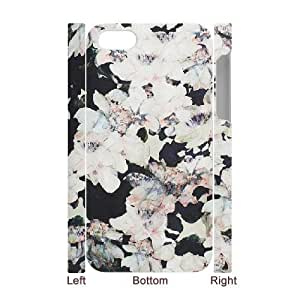 3D IPhone 4/4s Case Blooms White Flowers, IPhone 4/4s Case Blooms, [White]