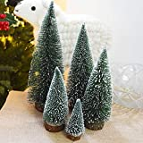 Liobaba Artificial Christmas Trees,Mini Christmas Decoration Supplies Small Simulation Plant Snowy Desktop Christmas Trees