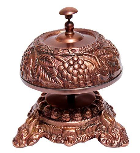 (MAH Nautical -Solid Aluminum Beautiful Desk Bells Wine Unique Table Bells Home Decor Gift Call Bell Reception Bell (Grapevine, Copper Antique) C-3063)
