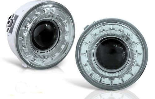 Hid Projector Fog Lights - 06-08 Ford F150 Halo Projector Fog Light - Smoke (Pair)