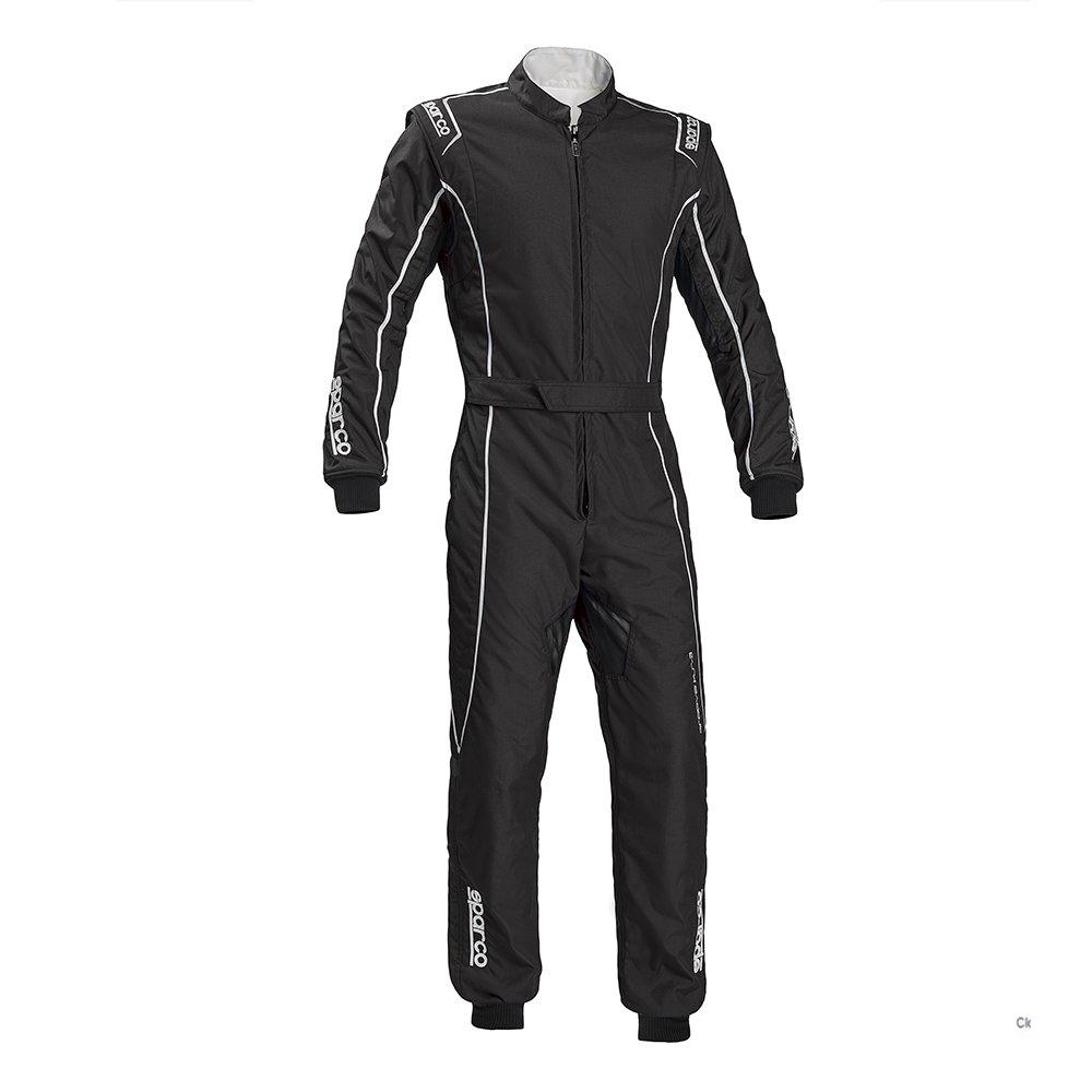 Sparco Groove KS-3 Kart Racing Suit 002334 Size: Medium, Black//Silver