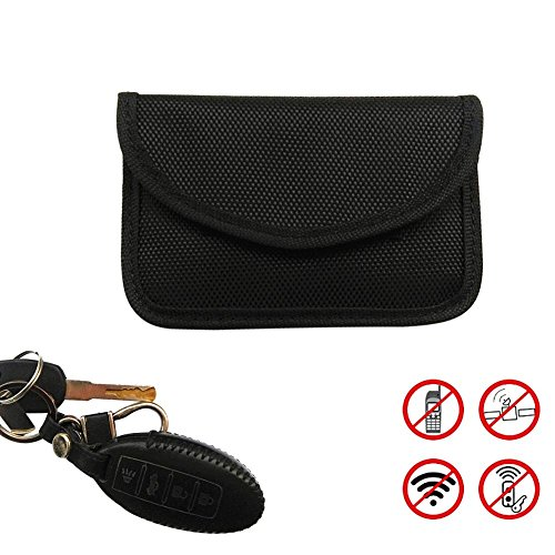 Luerme RFID Signal Blocking Bag Faraday Pouch Wallet Case Card Case Privacy Protection and Car Key Fob Protector Anti-Magnetic Anti-Theft Anti-Radiation Shielding Key Bag Oxford Cloth