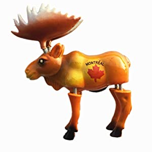 Elk of Montreal Canada 3D Fridge Magnet Travel Souvenir Gift Collection Home & Kitchen Decoration Spring Magnetic Sticker Montreal Canada Refrigerator Magnet