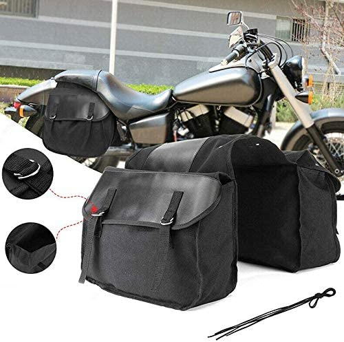 Fauge Universal Backpack Motorcycle Saddle Bag Waterproof Carrying Rear Saddle Bag Bike Motorcycle Seat Bag Black