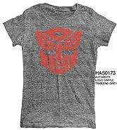 Transformers Autobots Logo Junior Gray T-Shirt