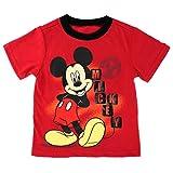 Disney Boys Mickey Tee (3T, Red)