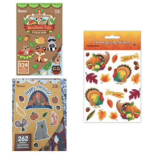 HUGE Mega Lot AUTUMN STICKERS - Fall (928 Total) - Woodland Creatures Thanksgiving - Kid's ACTIVITY Craft Party FAVORS -Scrapbooking PROJECT CLASSROOM