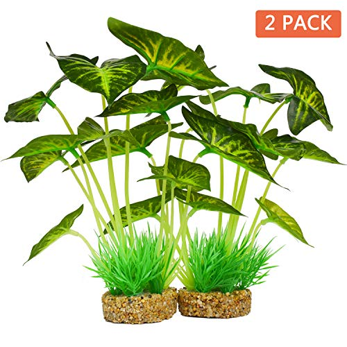 Smarlin Aquarium Plants Decoration,Artificial Plants for Fish Tank,10 Inches/25cm High,2 Pack (10 inches Height) by Smarlin