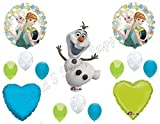 FROZEN FEVER Olaf Happy Birthday Balloons Decoration Supplies Summer Elsa Anna by Anagram