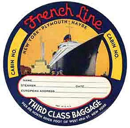 French Line Third Class Baggage Decal Retro Vintage Decal Sticker Souvenir Skateboard Laptop