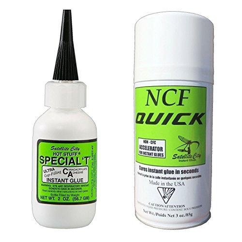 Hot Stuff Special T Thick CA Glue (2oz) & NCF Quick Aerosol Accelerator (6oz)