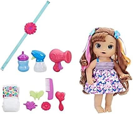 Amazon.com: Baby Alive Cute Hairstyles Baby (Brunette): Toys & Games