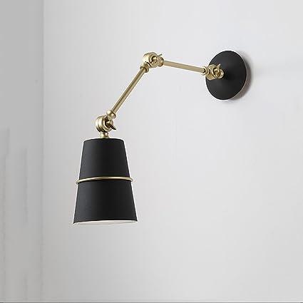 HJZY Lámpara de Pared Ajustable Vintage Edison Sencillez Simplicidad en Moho Antiguo Acabado Loft Brazo Oscilante