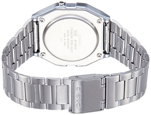 Casio Men's  A158WA-1DF Stainless Steel Digital Watch