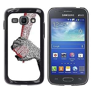 TopCaseStore / la caja del caucho duro de la cubierta de protección de la piel - Hands Of Love - Samsung Galaxy Ace 3 GT-S7270 GT-S7275 GT-S7272