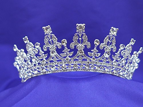 Queen of England Elizabeth Rhinestone Crystal Wedding Pageant Prom Tiara Crown Replica Queen Bandeau