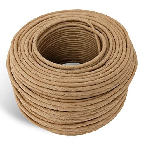 5/32 Fiber Paper Rush Coil, 320ft Kraft Brown for Craft Weaving Chairs -